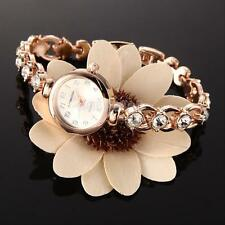 Luxury Women's Bling Crystal Stainless Steel Bracelet Quartz Dress Wrist Watch