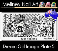 Dream Girl 5 Stamping Nail Art Image Plate Design Rectangle XL Stencil metal