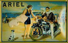 Blechschild Ariel quer Nostalgieschild Motorrad Strand Schild 20x30