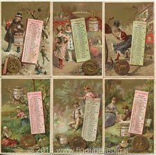 Chromo Liebig Sang. 189 ITA Calendario II (12 fig.) ANNO 1887