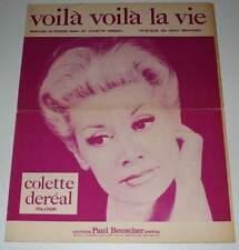 Partition vintage sheet music COLETTE DEREAL : Voilà Voilà la Vie * 60's