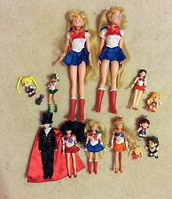 Bishoujo Senshi Sailor Moon doll/figure lot- Venus Mars Jupiter Tuxedo Mask