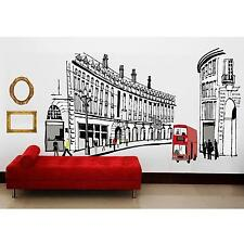 Retro Abstract Home Bedroom Decor Romantic Roman Street Type Decal Wall Sticker