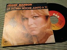 "JEANE MANSON SUNG IN SPANISH 7"" SINGLE SPAIN LA ULTIMA NOCHE JUNTO A TI"
