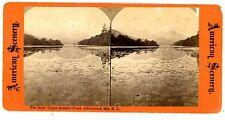 Adirondack Mountains NY-INLET AT UPPER AUSABLE POND-American Scenery Stereoview