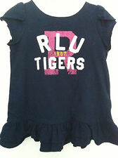 Ralph Lauren Infant Girls Dress with Bloomers Navy Blue Double Ruffle 9M NWT