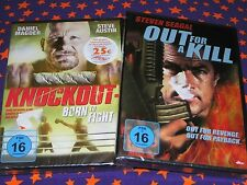 OUT FOR A KILL & KNOCKOUT-Born to Fight-DVD-Set-STEVEN SEAGAL-Steve Austin-KULT