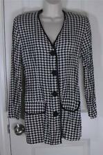 Herve Ledger Vintage Checkboard Button Front Jacket Cardigan Top Shirt Sz 8 10