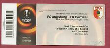 Orig.Ticket   Europa League 15/16  FC AUGSBURG - PARTIZAN BELGRAD  !!  SELTEN