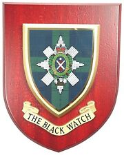 THE BLACK WATCH CLASSIC HAND MADE IN UK REGIMENTAL MESS PLAQUE