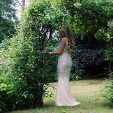 Stunning Evening/Prom/Wedding Dress gorgeous Nude/Champagne colour Size 6-8