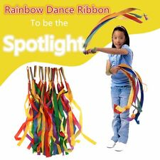 Rainbow Dance Ribbon Gym Rhythmi Gym Ballet Streamer Twirling RodeCheerleading