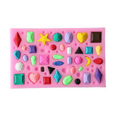 New 3D Silicone Mold Mould Gem Collection For Chocolate Soap Candy Cake Ice Cube