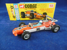 Corgi Toys 158 Lotus Climax F/1 Driver controlled steering near mint condition