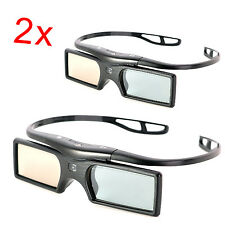 2 Pairs Replacement Active 3D Glasses of TDG-BT400A,TDG-BT500A for Sony TV