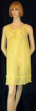 Vintage Lace Nighty 1960s Retro Glamour Lemon Nylon Lace & Ruffles Nightdress