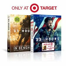13 Hours 3 Disc Combo Pack (Blu-ray+DVD+DIGITAL HD+ BOOK) - Target Exclusive