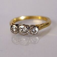 Beautiful 18ct Gold platinum set 0.30 ct Diamond Three stone Engagement Ring