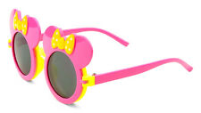 KIDS PINK YELLOW MOUSE EARS FLIP UP SUNGLASSES CLEAR BLK LENS MICKEY MINNIE BOW