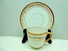 379 Kaiserin Maria Theresia  white demitasse cup & saucers circa 1884 - 1900.