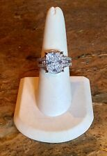 """VICTORIA WIECK BEVERLY HILLS"" 5 CT ABSOLUTE SOLITAIRE AND ACCENT SZ 8 RING"