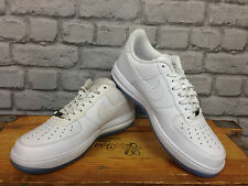 NIKE UK 9 LUNAR FORCE 1 LOW WHITE TRAINERS LEATHER RRP £60