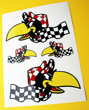 "Hot Rod Retro ""Racing Crow' Vintage Sticker Decal Set Ford Chevy Kustom coche"