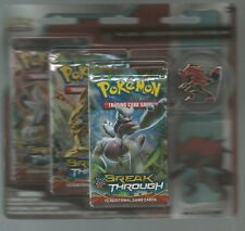 Pokemon XY Breakthrough Zoroark 3-Pack Blister with Pin