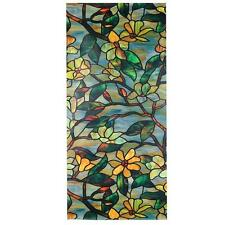 NEW Magnolia Window Film Decorative Privacy Glass Stained Look