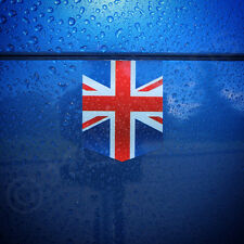 "Union Jack sticker - 1 3/8"" x 1 3/4"" - car decal United Kingdom emblem UK badge"