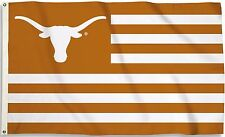 Texas Longhorns 3' x 5' Flag (Stripes With Logo) NCAA Licensed