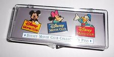 Disney Movie Club 3 Pin lot with Mickey Mouse, Donald Duck & Minnie Mouse