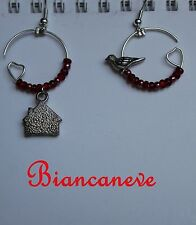 Orecchini Biancaneve Uccellino Casa Cosplay Earrings Snowhite Bird House Disney