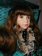 """24"""" Jolene Porcelain Doll~William Tung Collection~COA 82/1500~Excellent Cond."""