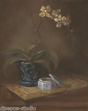 """Daily Painting a Day Sepos """"Orchid With Asian Influences"""" still life"""