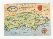 Sussex Map Postcard 421a