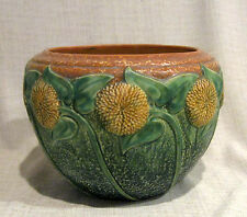 "Roseville Sunflower 7"" Jardiniere"