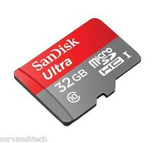 SanDisk Ultra 32GB MicroSD Memory Card 30MB/s class 10 with Adaptor
