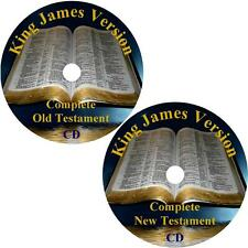 King James Version Audio Bible, Complete Christian KJV 66 Books on 2 MP3 CDs