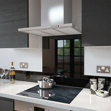 Black Glass Splashback UPSTAND 140mm X 1500mm