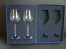 SWAROVSKI ~ CRYSTALLINE ~ RED WINE GLASSES ~ SET OF 2 ~ New in Box