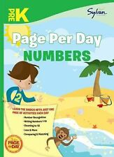 Page per Day Math Ser.: Pre-K Page per Day: Numbers by Sylvan Learning Staff...