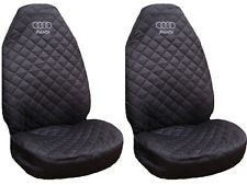 New Front Seat Covers for  Audi A2 , A3 , A4 , A6 Grey logo