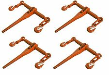 """4 PACK Ratcheting Load Binder 5/16""""-3/8"""" Chain Ratchet Boomer Tie Down Rigging"""