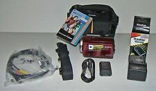 ➤Sony DCR-SR47 60GB Flash HD Handycam Camcorder-NEW Case!HDMI,Red