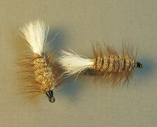 Lot of 2 Brown Bug White Tail - Atlantic Salmon and Trout Flies