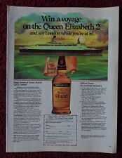 1983 Print Ad House of Stuart Scotch Whiskey ~ The Queen Elizabeth 2 Cruise Ship