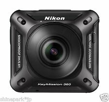 Nikon Waterproof Wearable Action Camera Key Mission 360 BK Black KeyMission