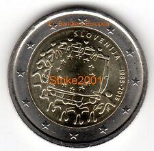 NEW !!! 2 EURO COMMEMORATIVO SLOVENIA 2015 30° Bandiera Europea ! disponibile !