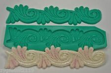 Silicone mold mould sugarcraft cake decoration moulds crafts ace border (1003)